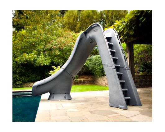 Typhoon Left Hand Turn Inground Pool Slide Pool Supplies