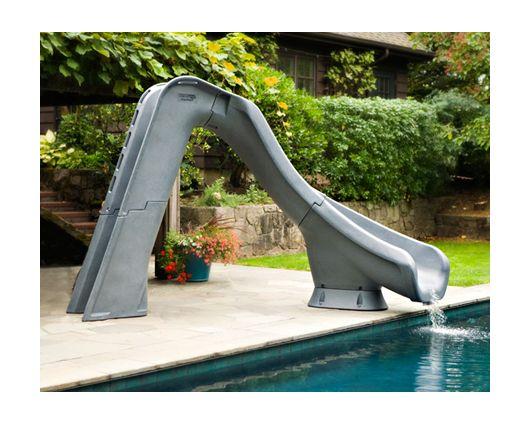 Glissade typhoon virage droite pour piscine creus e for Chauffe eau solaire pour piscine hors terre