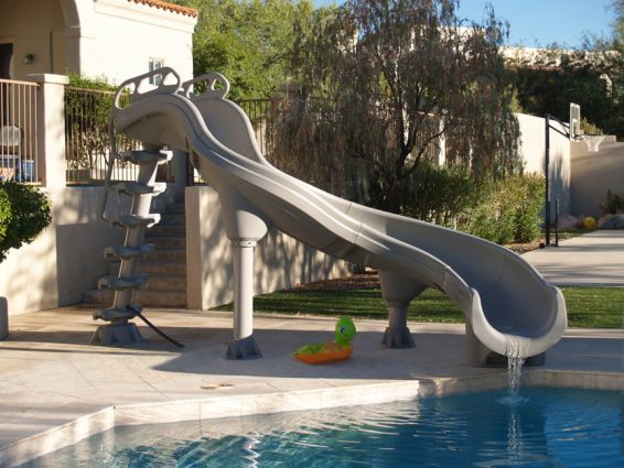 Inter Fab Adrenaline Right Hand Inground Pool Slide Pool