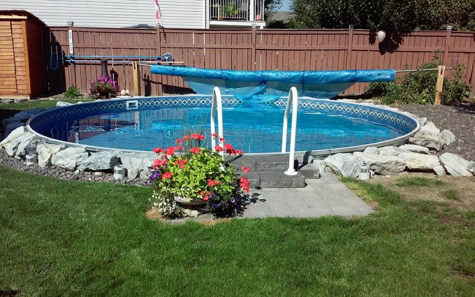 Eternity 24 Ft Round Semi Inground Pool Basic Pool