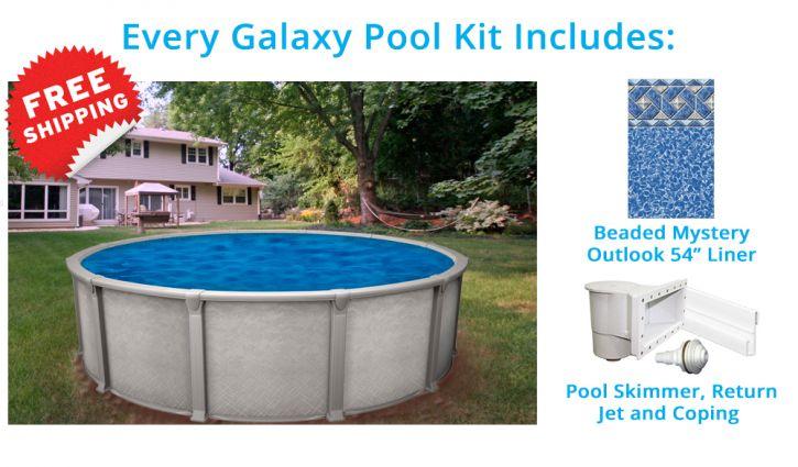 Galaxy 18 pieds ronde piscine hors terre magasin de for Chauffe eau pour piscine hors terre