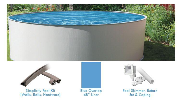 Simplicity 15 pied ronde piscine hors terre forfait for Chauffe eau pour piscine hors terre